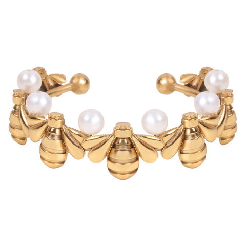 Bee Army - Pearl Bracelet - Coup Jewelry