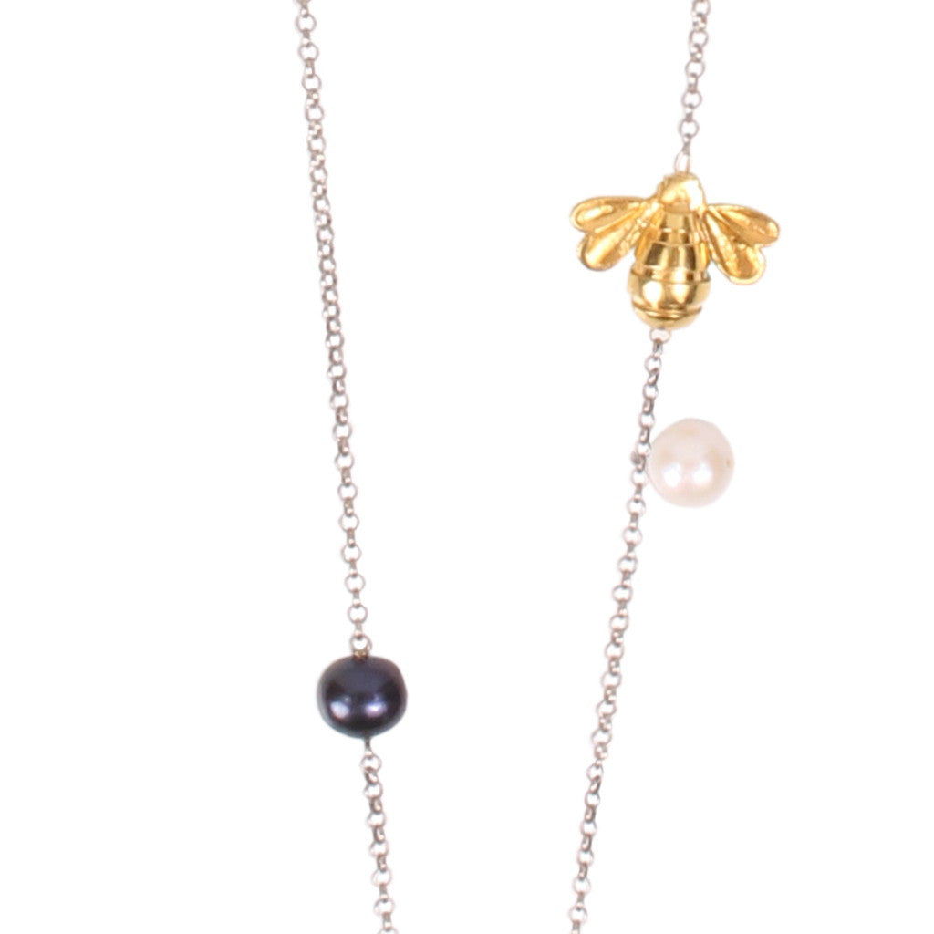 Storm Pearl Silver/ Gold Plated Necklace - Coup Jewelry