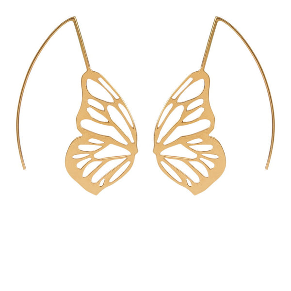 Butterfly Effect (half Moon) Silver/ Gold Plated Earrings