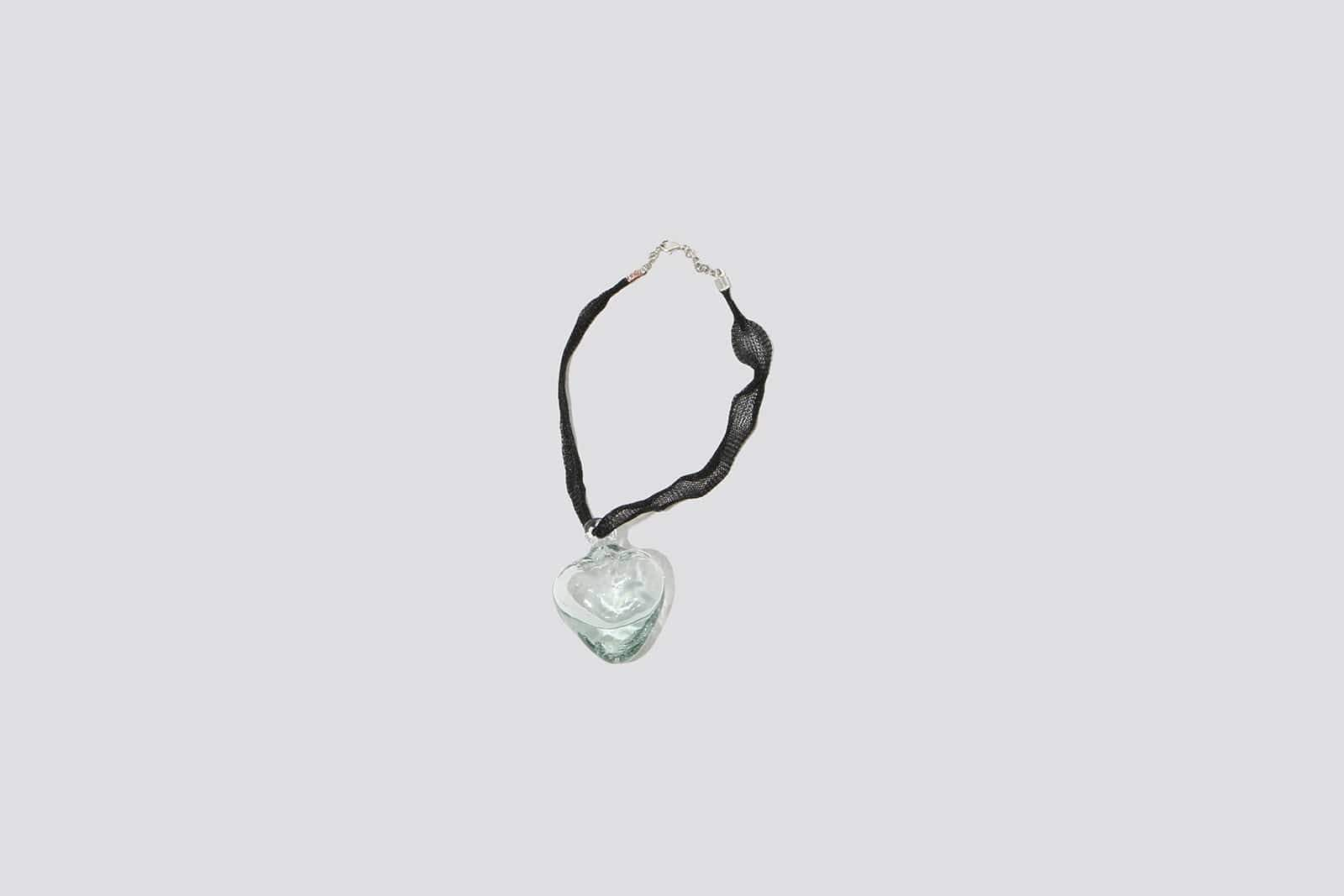 Glass Heart Necklace - MAIMOUN