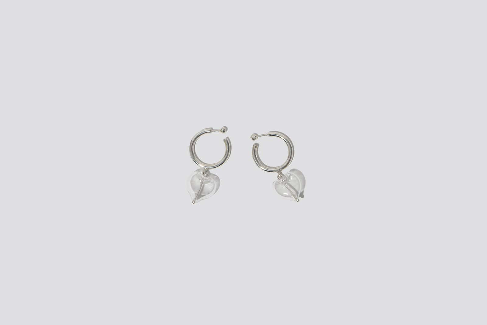 Heart Drop Hoop Earrings - MAIMOUN