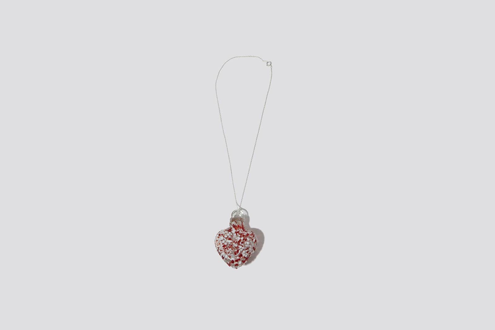 Speckled Red Glass Heart - MAIMOUN