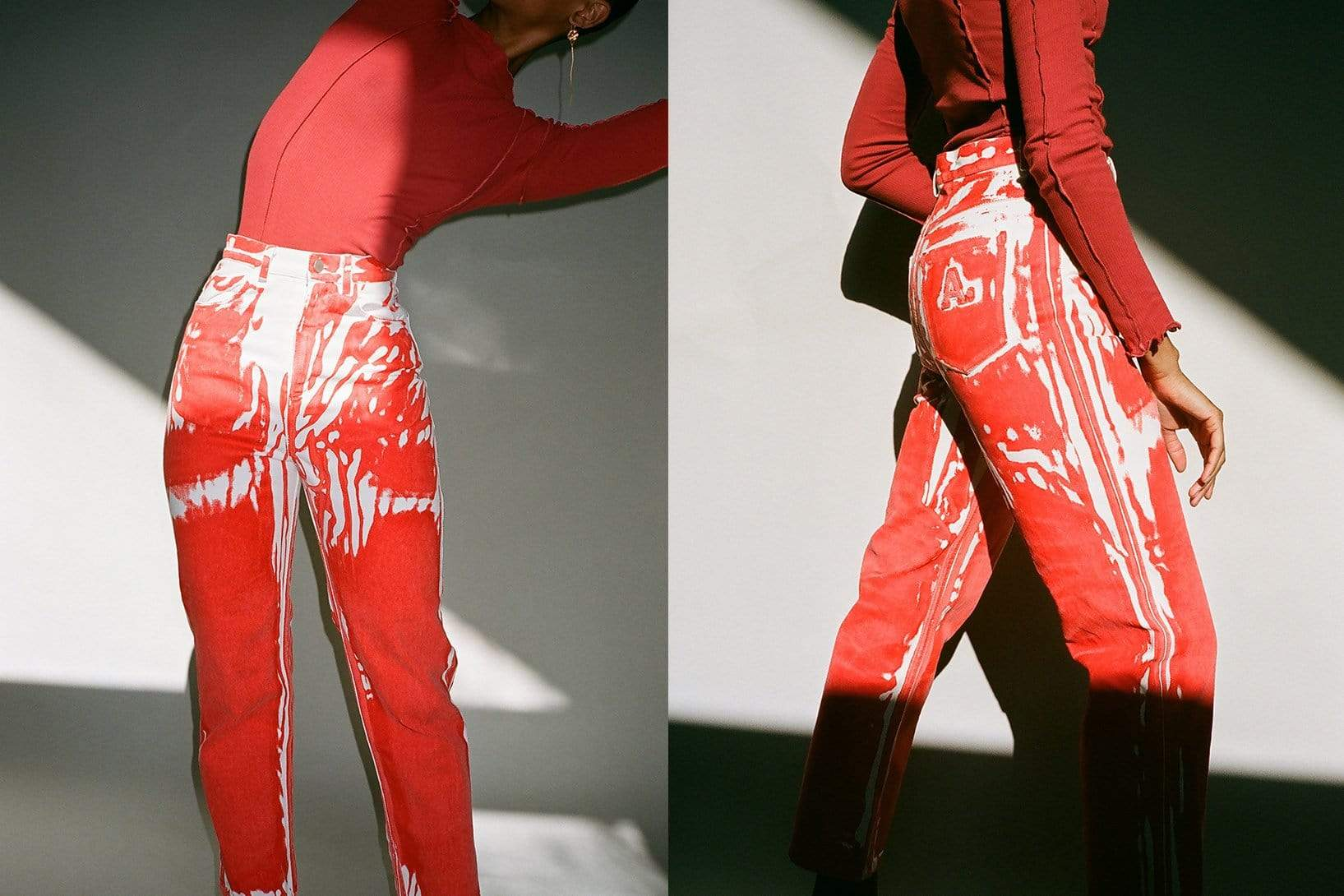 Screenprint Denim Pant - MAIMOUN