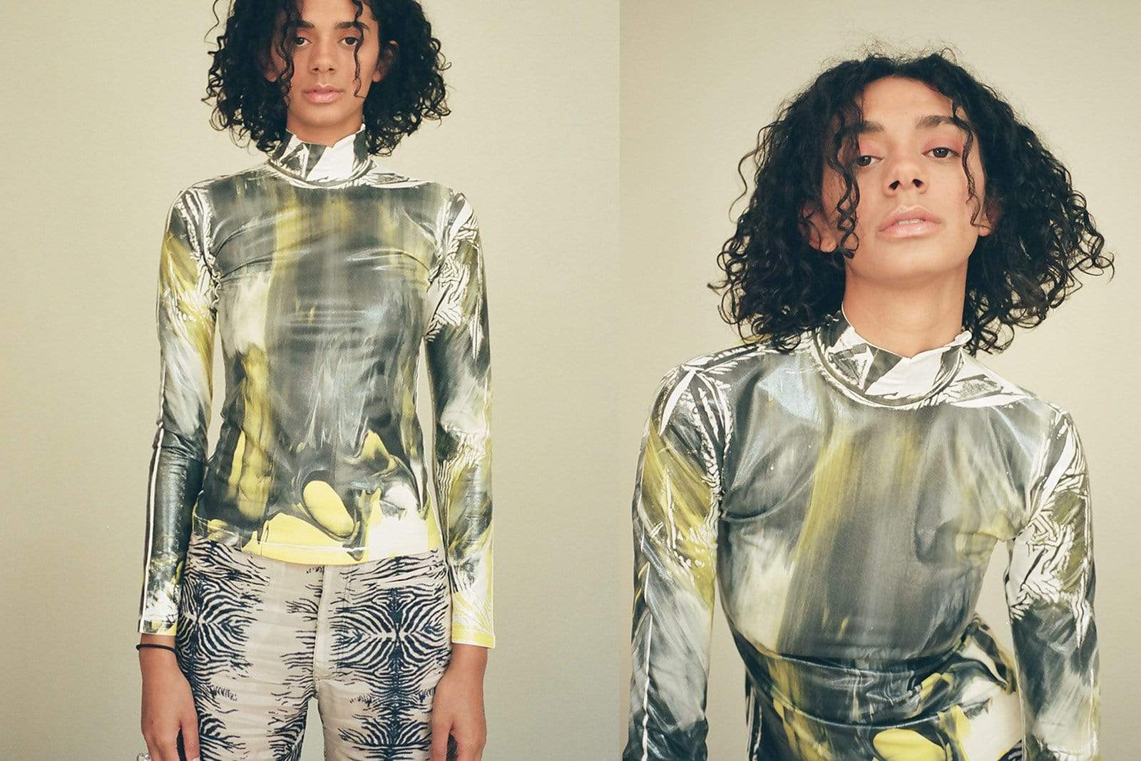 Maimoun Cormio Marbled Turtleneck Tee
