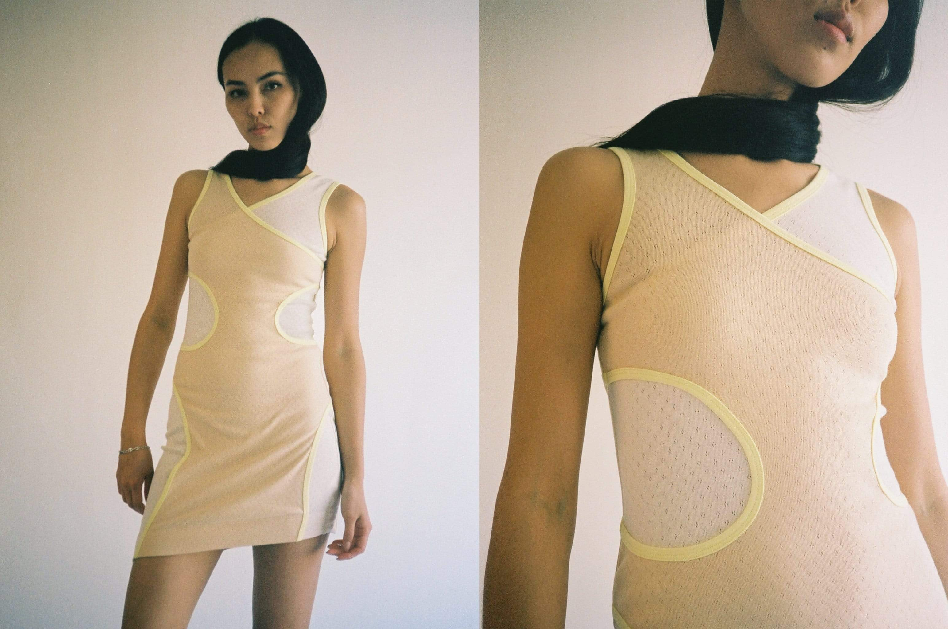 Maimoun Eckhaus Latta Peaches Surface Dress