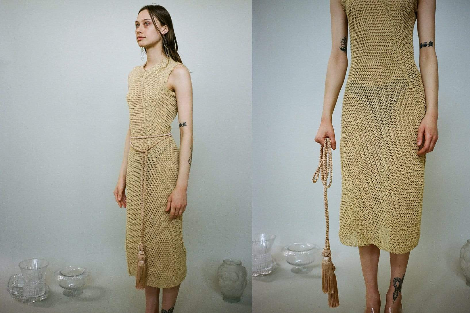 Straw Winding Dress - MAIMOUN