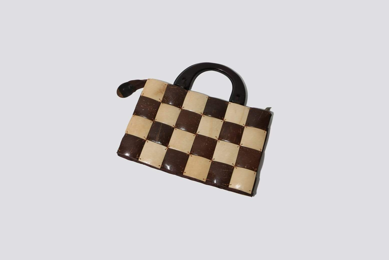Maimoun Found Checkered Purse