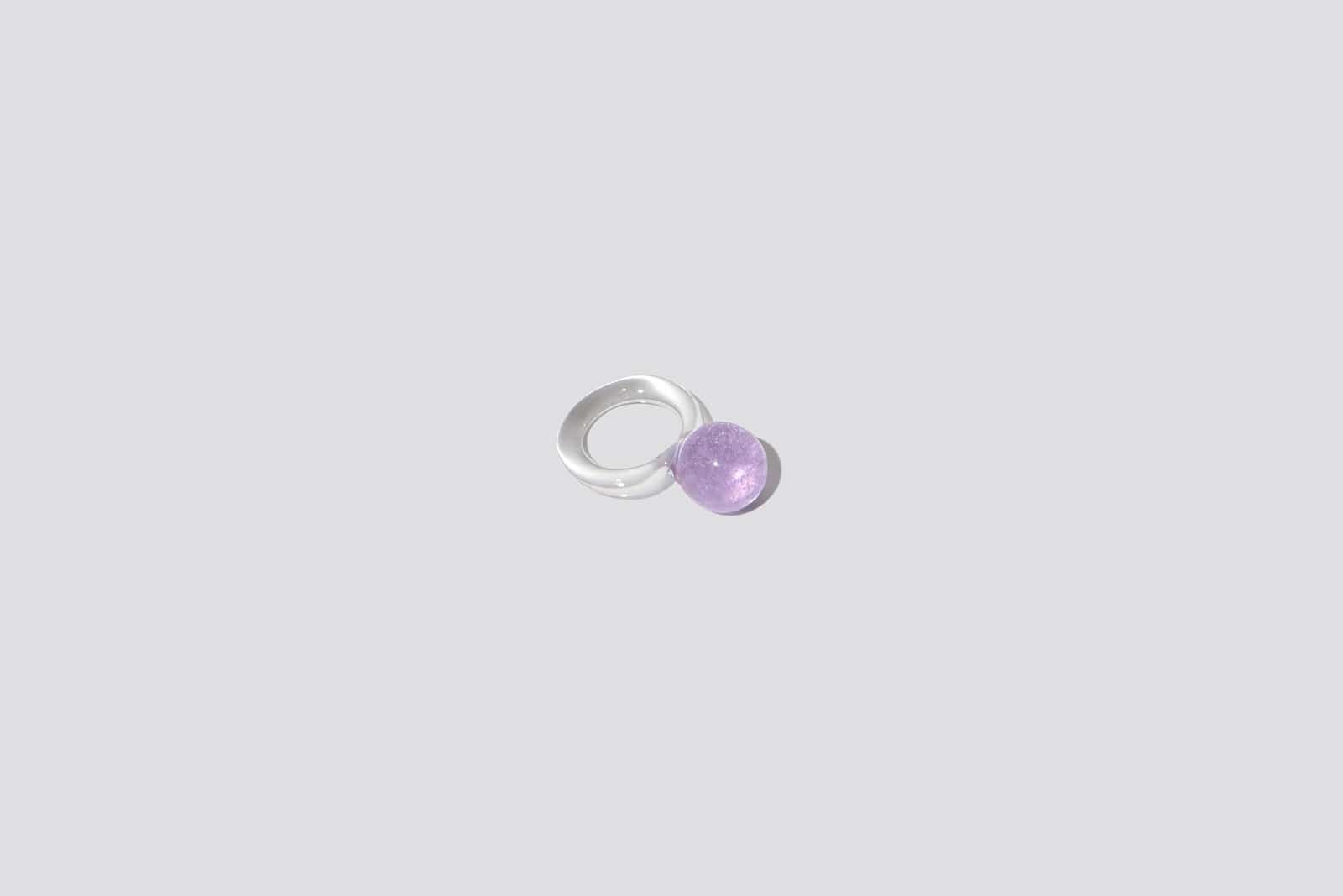 Maimoun Jane D'Arensbourg Lilac Orb Glass Ring