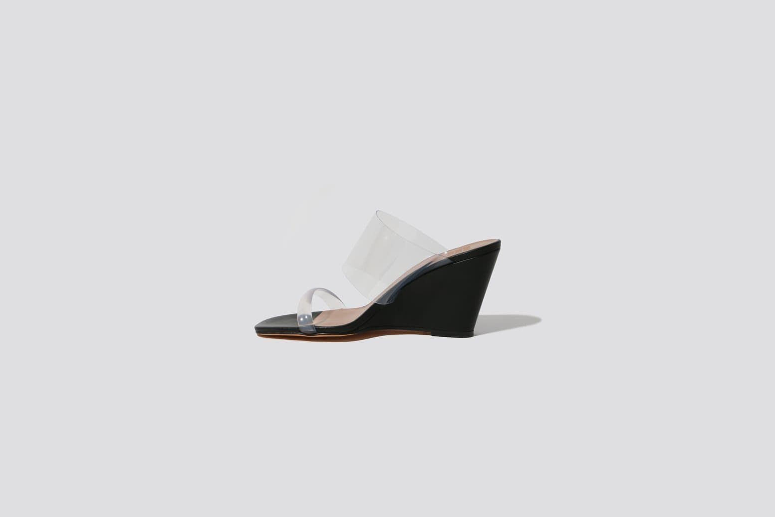 Black Olympia Wedge - MAIMOUN