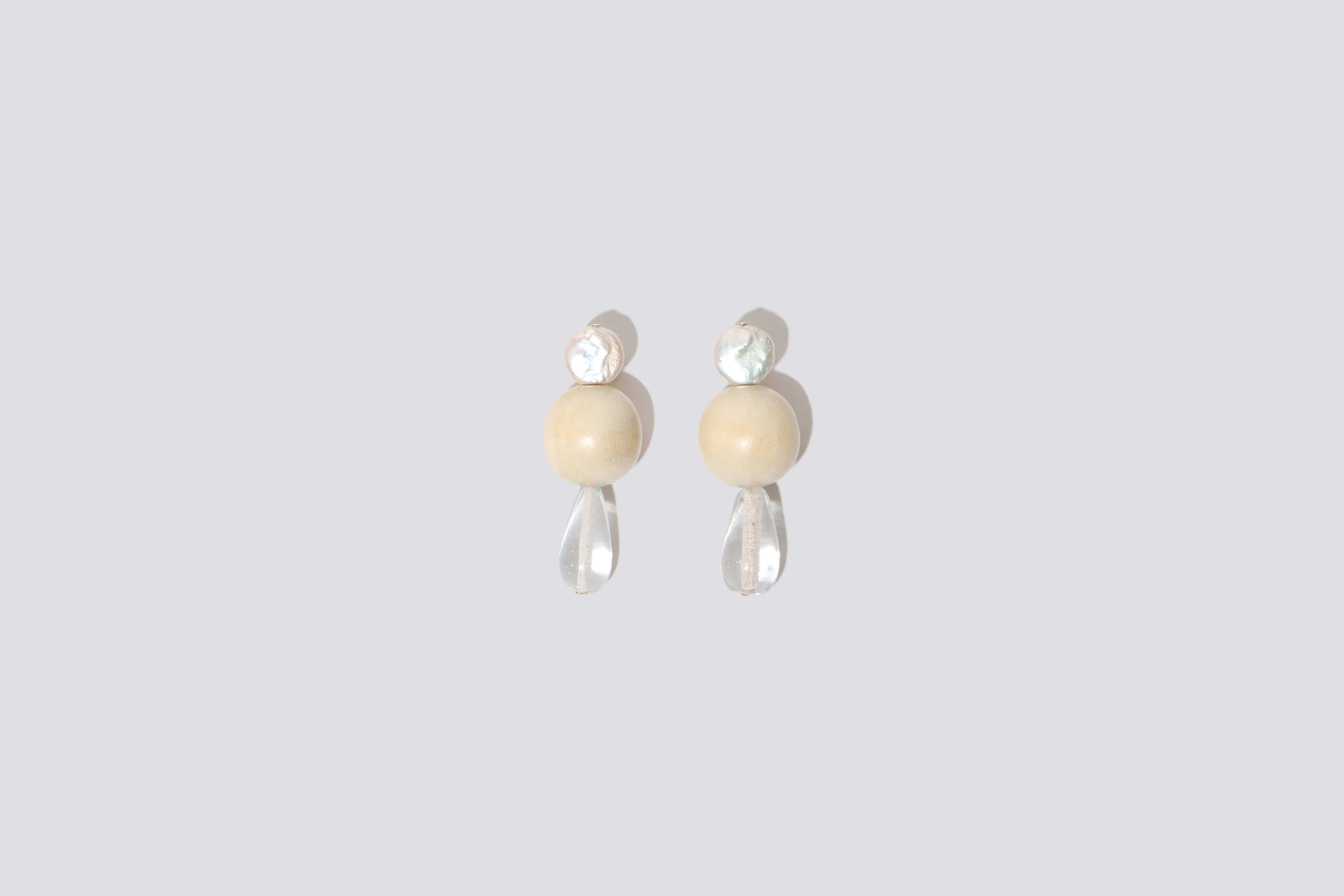 Maimoun NST Studio Off-White Earring Drops