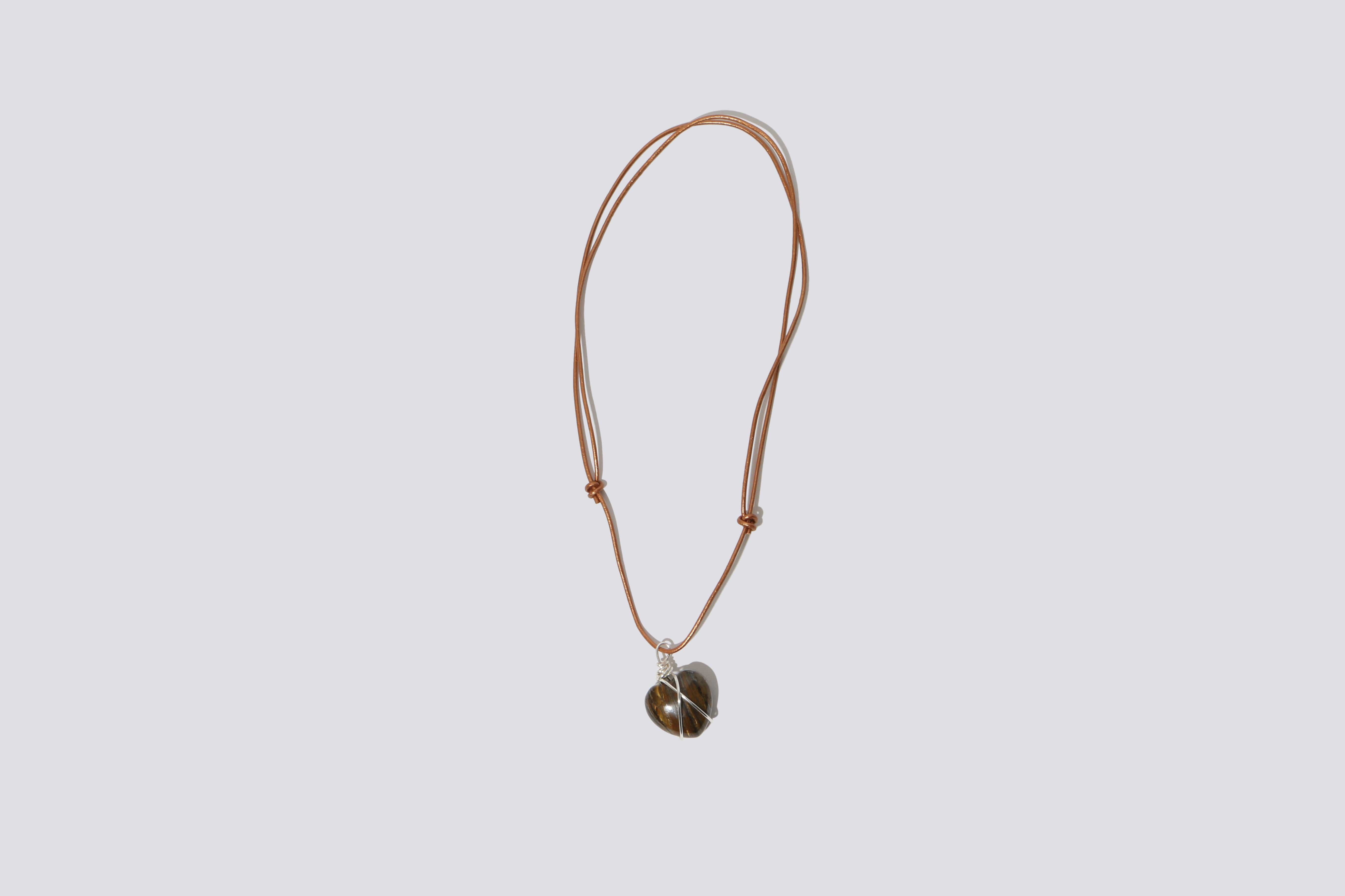 Maimoun Odyssey Tiger Eye Copper Sweetheart Necklace