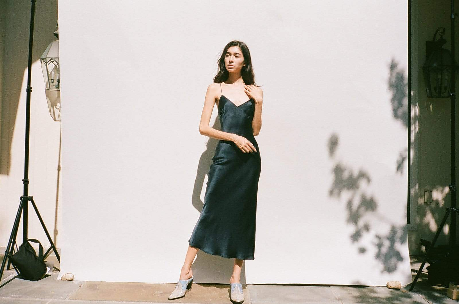 Midnight Sandoval Slip Dress - MAIMOUN