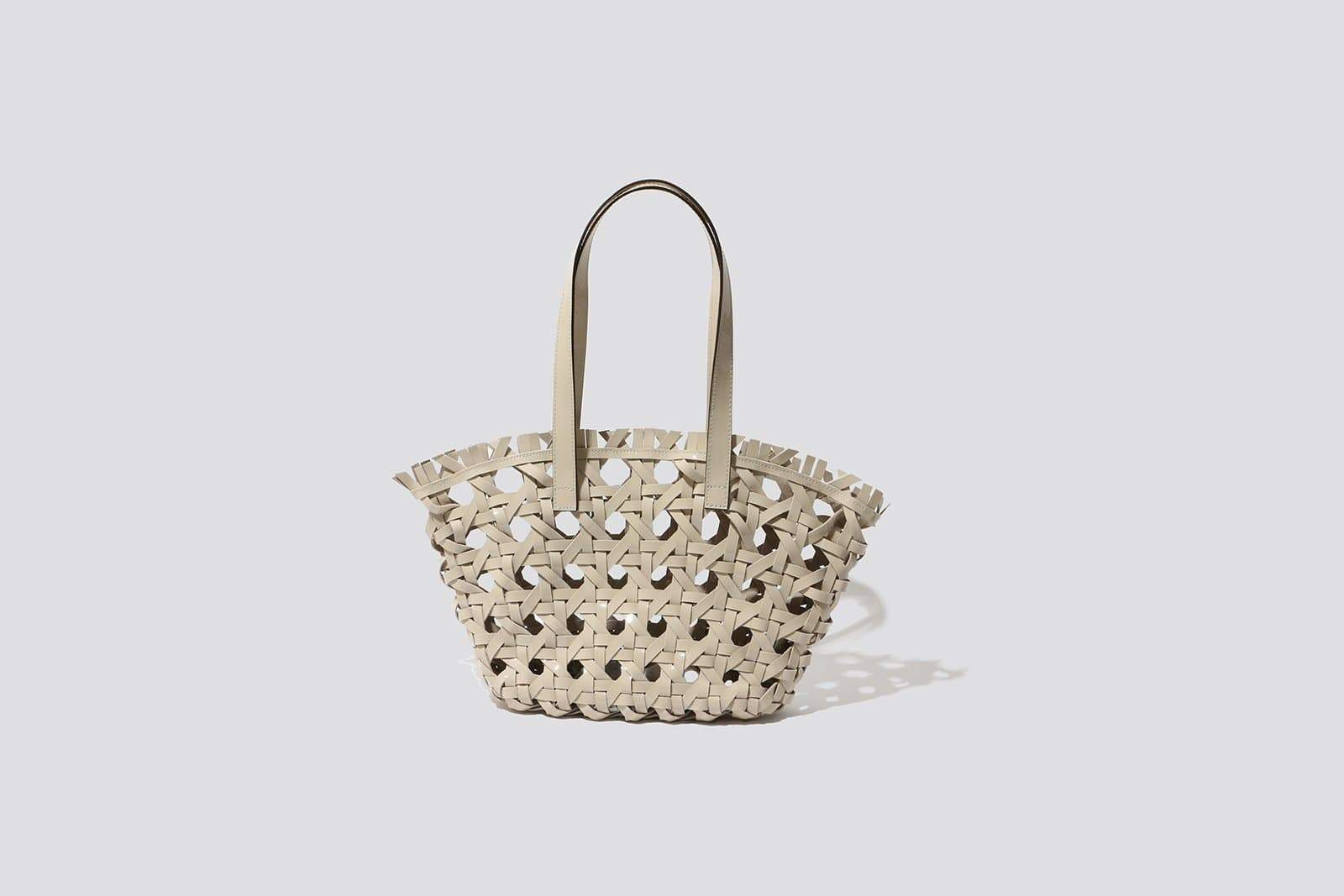 Ivory Leather Market Bag - MAIMOUN