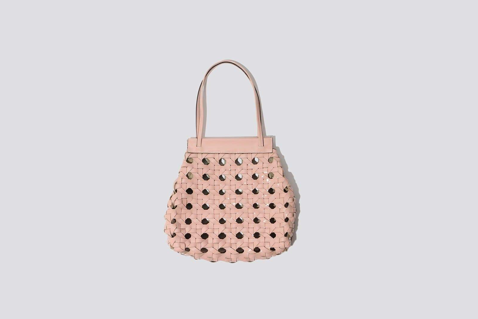Rose Woven Leather Purse - MAIMOUN