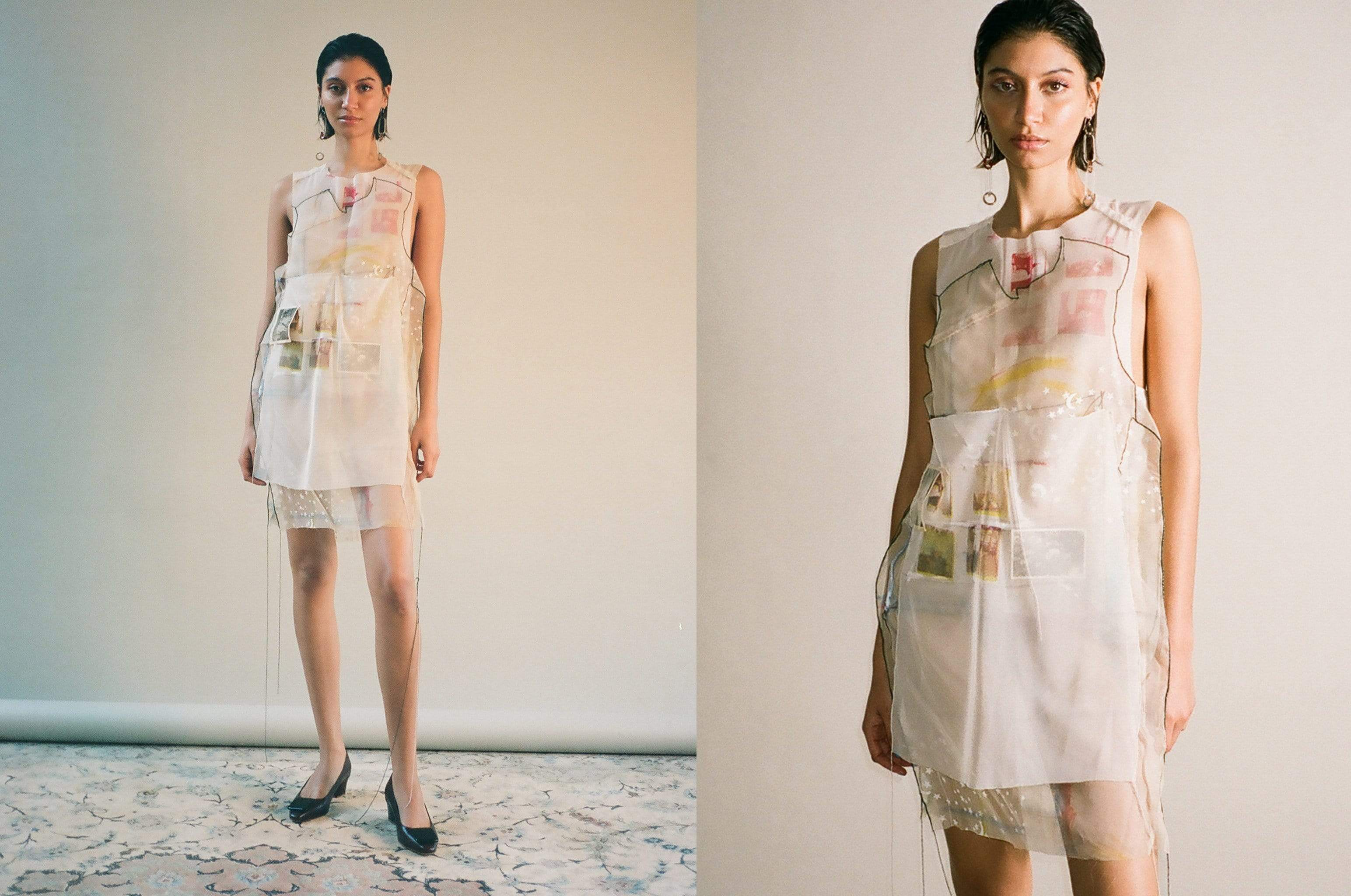 Maimoun Rachel Lee Lura Collage Dress