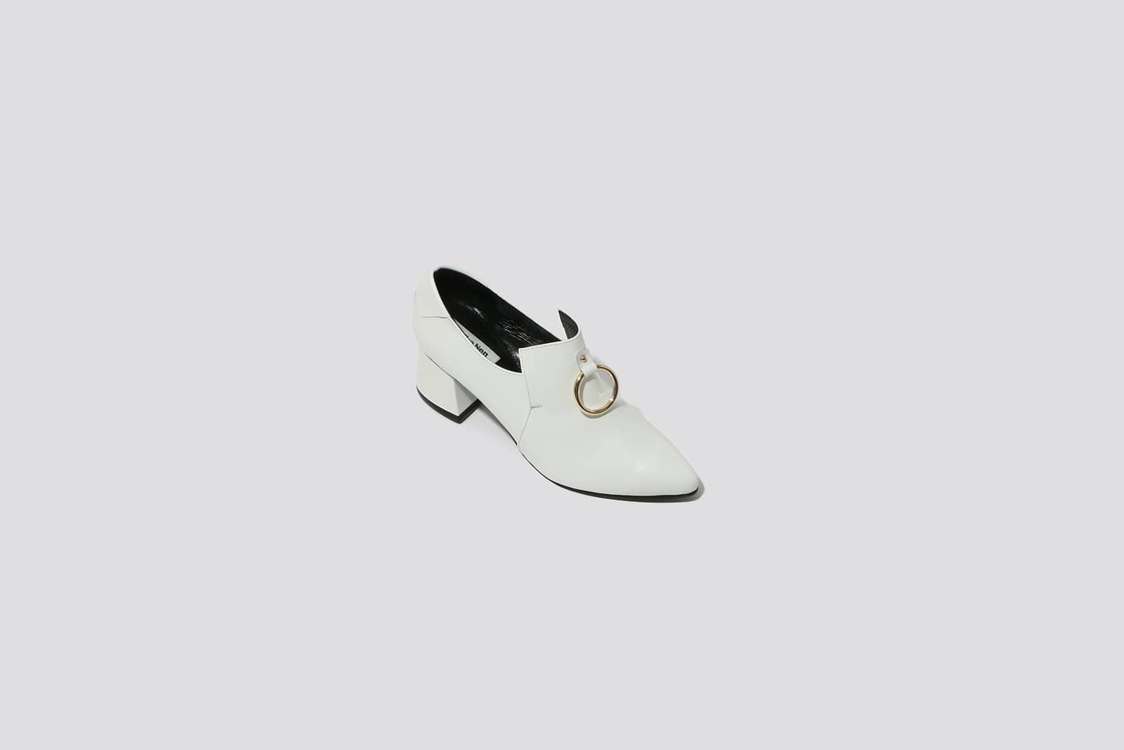White Ring Middle Loafer - MAIMOUN