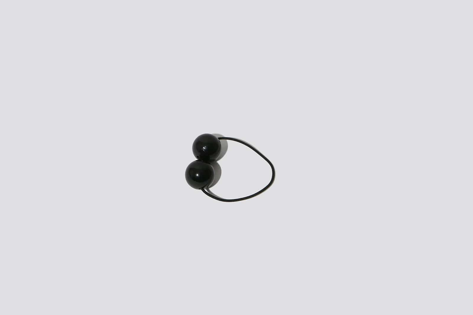 Black Wood Hair Tie - MAIMOUN