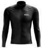 Ultimate Black Cycling Jersey Long Sleeves