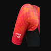 Pro Triathlon Sleeved Trisuit - Orange Leaves