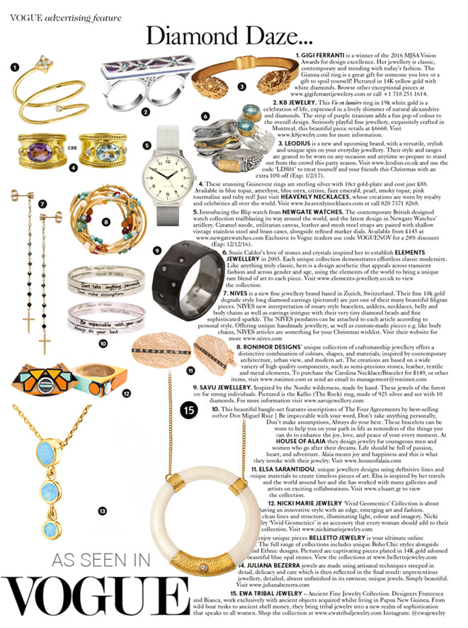 Vogue Ewa Tribal Jewelry