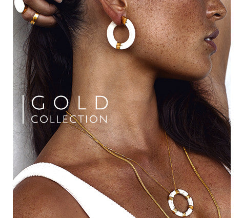 Ewa Tribal Jewelry Gold Collection