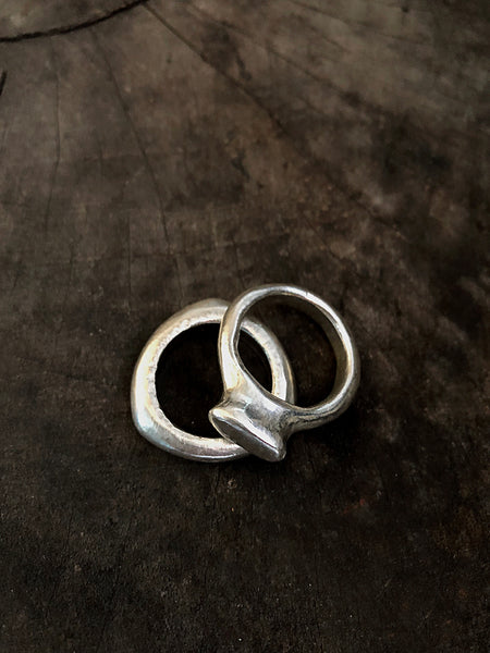 Signet Ring & Tri Ring Set
