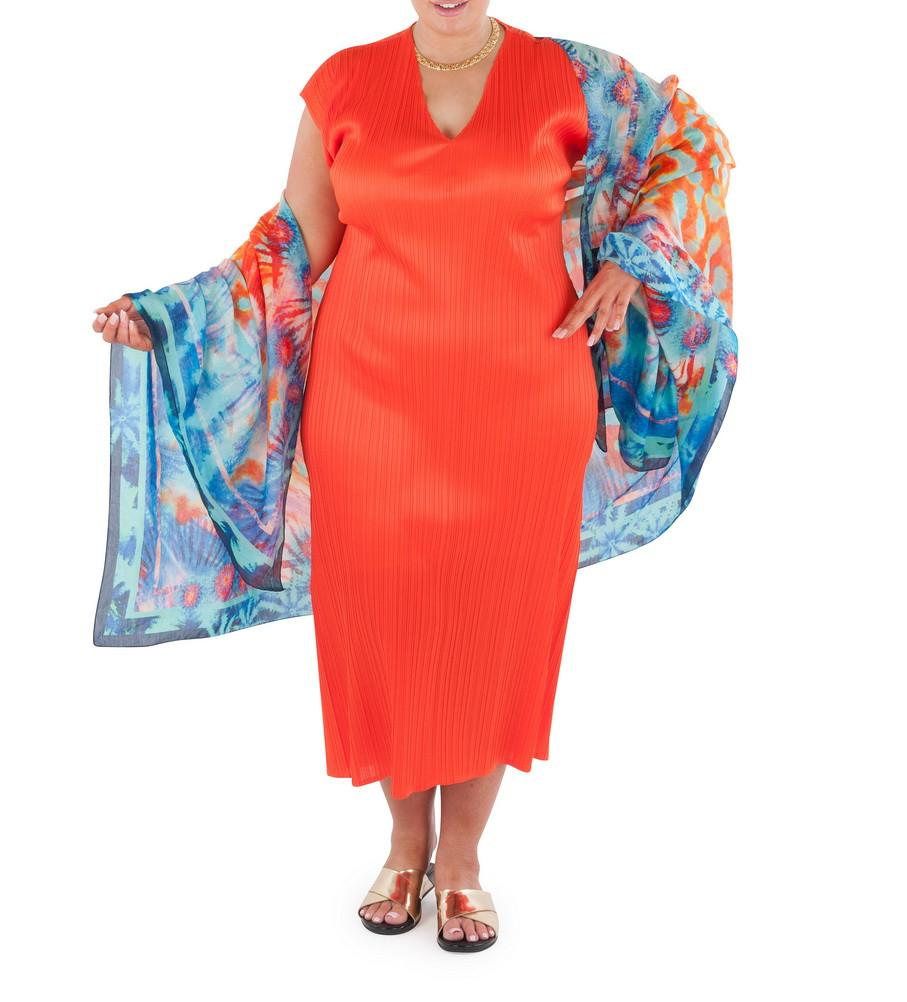 Sarong  Sea Fire Sunset (Silk - Cotton)