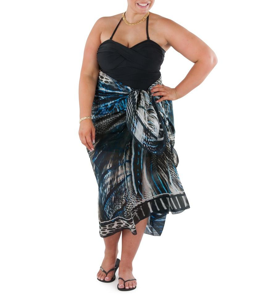 Sarong Midnight Sands (Silk - Cotton)