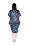Dress 'Cocoon' Blue Waratah