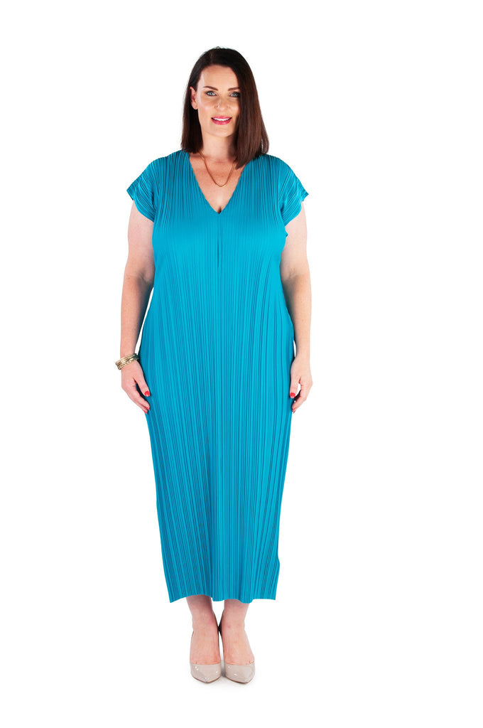 Dress Long  Blue Tropic Island