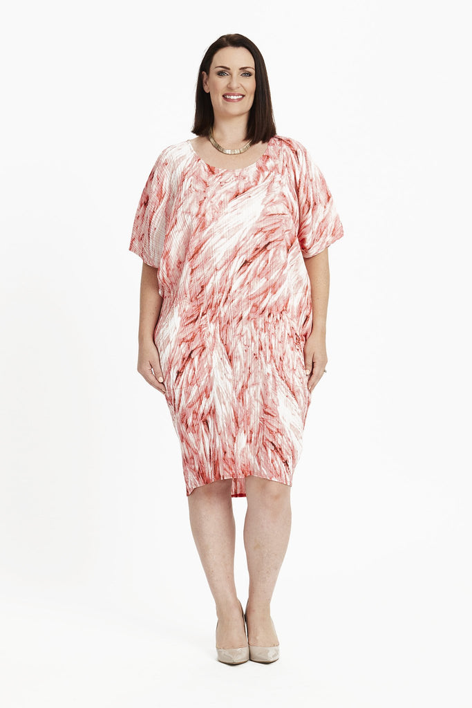 DRESS COCOON  -   FUSCHIA FEATHERS