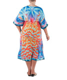 Kaftan Dress  Sea Fire Sunset (Silk-Modal)