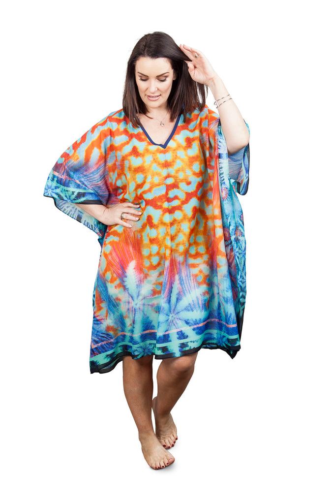 Short Kaftan (Silk 30%-Cotton 70%) Dangers of the Deep
