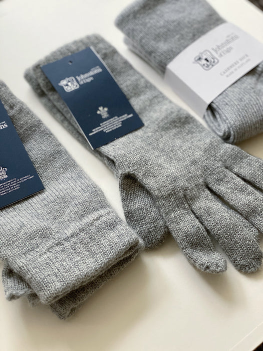 Cashmere Wrist Warmers in Grey