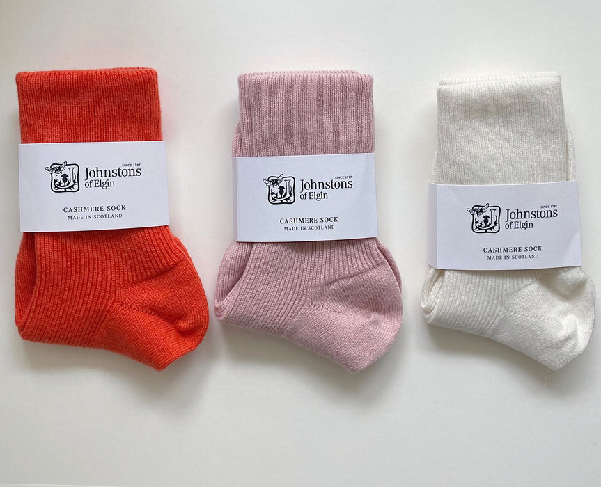 Women's Cashmere Socks in Tang