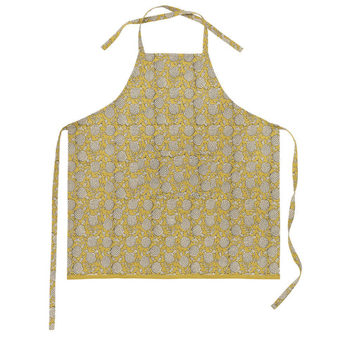 Cotton Apron in Pomegranate Curry
