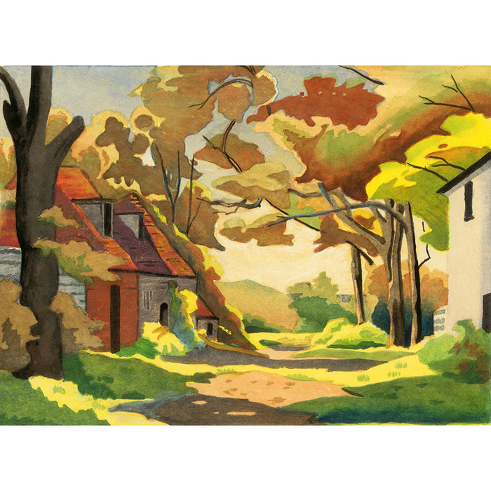 A Sussex Farmstead 1935 By Eric Slater