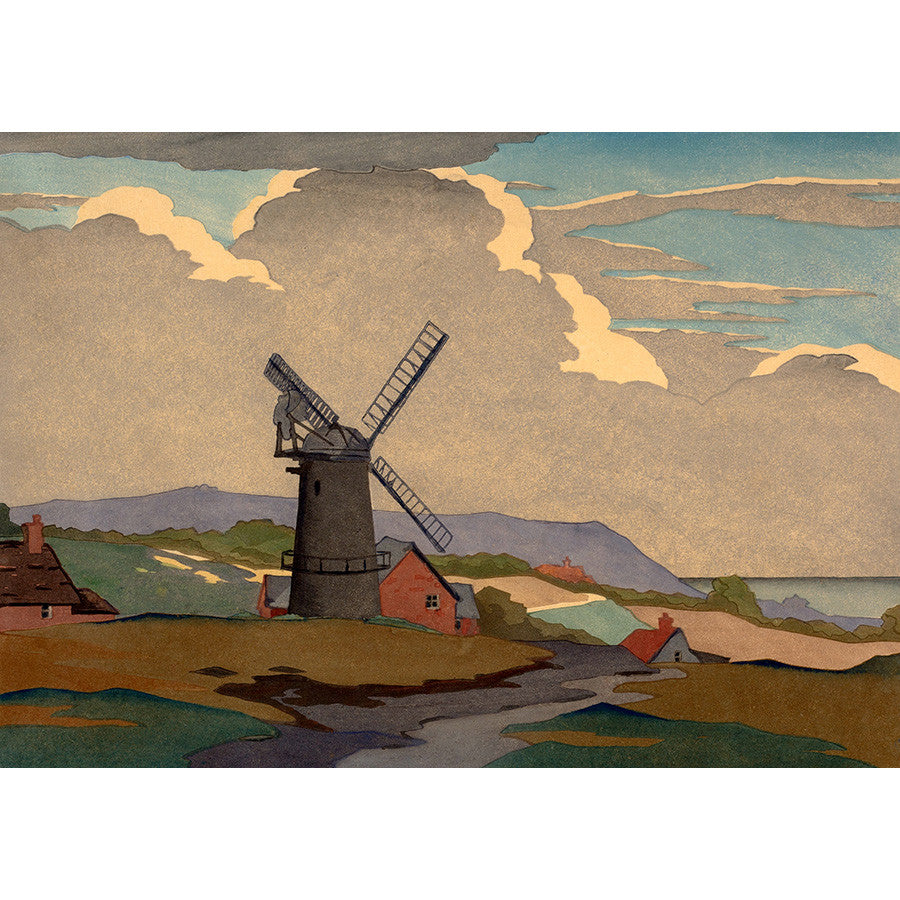 A Sussex Mill 1930 By Eric Slater