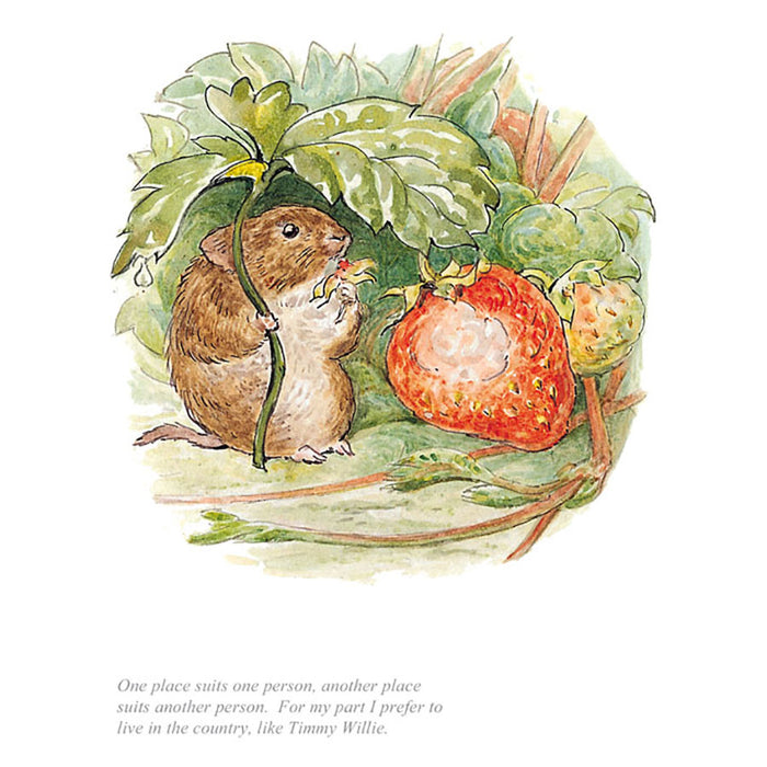 I Prefer To Live In The Country By Beatrix Potter