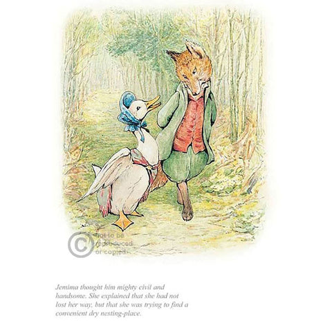 Jemima With Mr Fox By Beatrix Potter