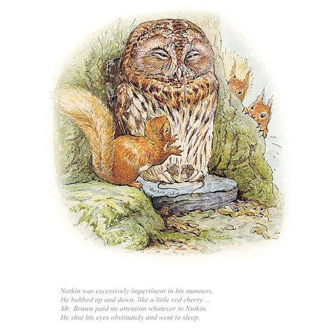 Mr Brown Paid No Attention Squirrel Nutkin By Beatrix Potter