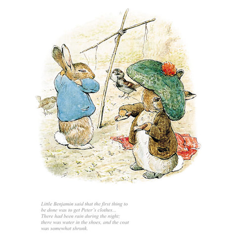 The First Thing Was To Get Peter's Clothes By Beatrix Potter