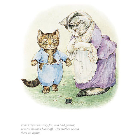 Tom Kitten Was Very Fat By Beatrix Potter