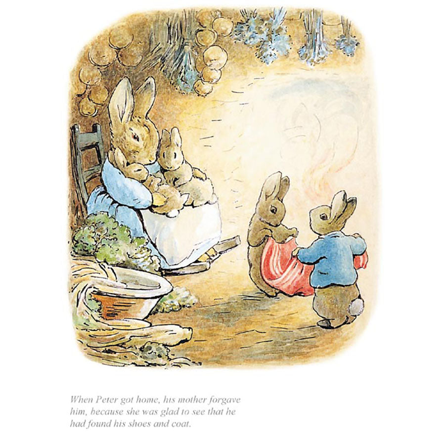 When Peter Got Home His Mother Forgave Him By Beatrix Potter