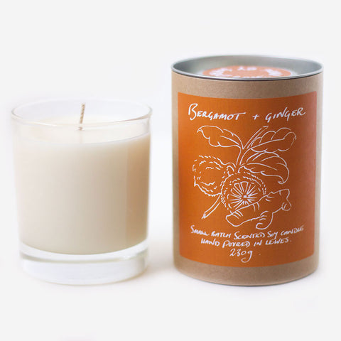 Bergamot + Ginger Scented Candle