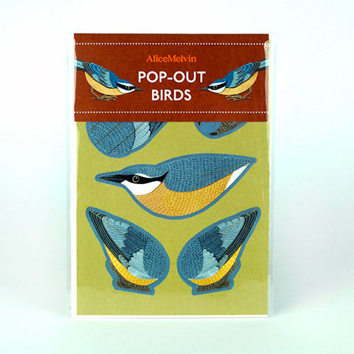 Nuthatch Die Cut Pop Out Greeting Card