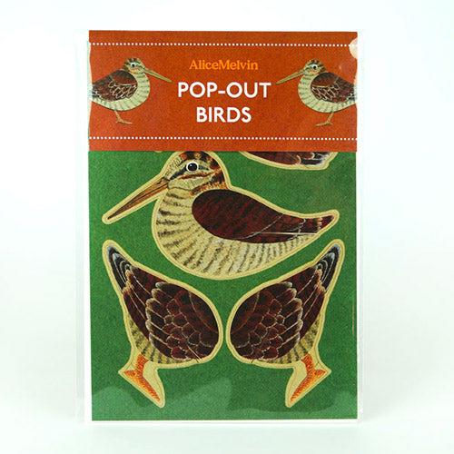 Woodcock Die Cut Pop Out Greeting Card