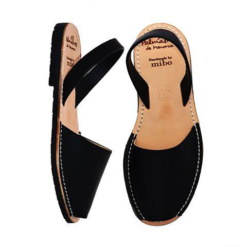 Palmaira Leather Sandal In Black
