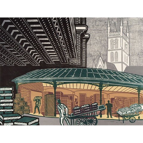 Borough Market By Edward Bawden