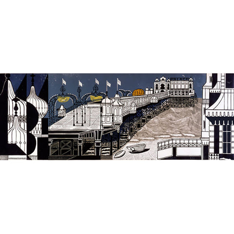 Brighton Pier By Edward Bawden